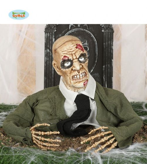 Resuscitating Zombie Halloween Party Decoration Display Prop Lights & Sound FX